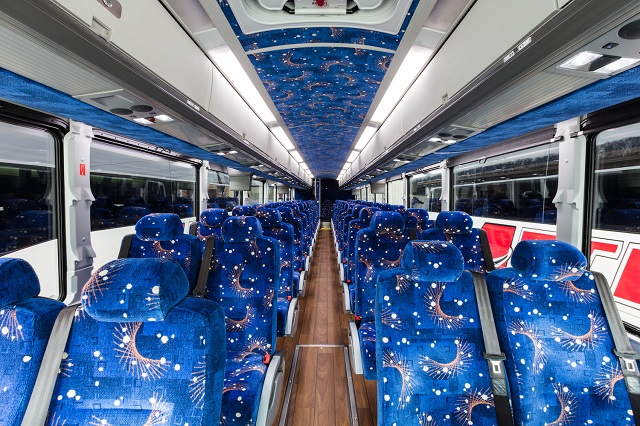 pengecekan interior bus
